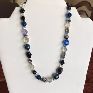 Jewelry - Handmade blue bead and sterling necklace